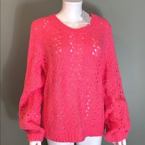 For the Republic Womans Pink Sweater SZ.L